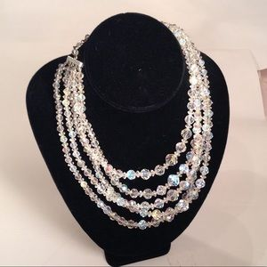 Jewelry - Vintage Crystal Statement  Necklace